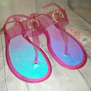 Juicy Couture Jelly Sandals size Small